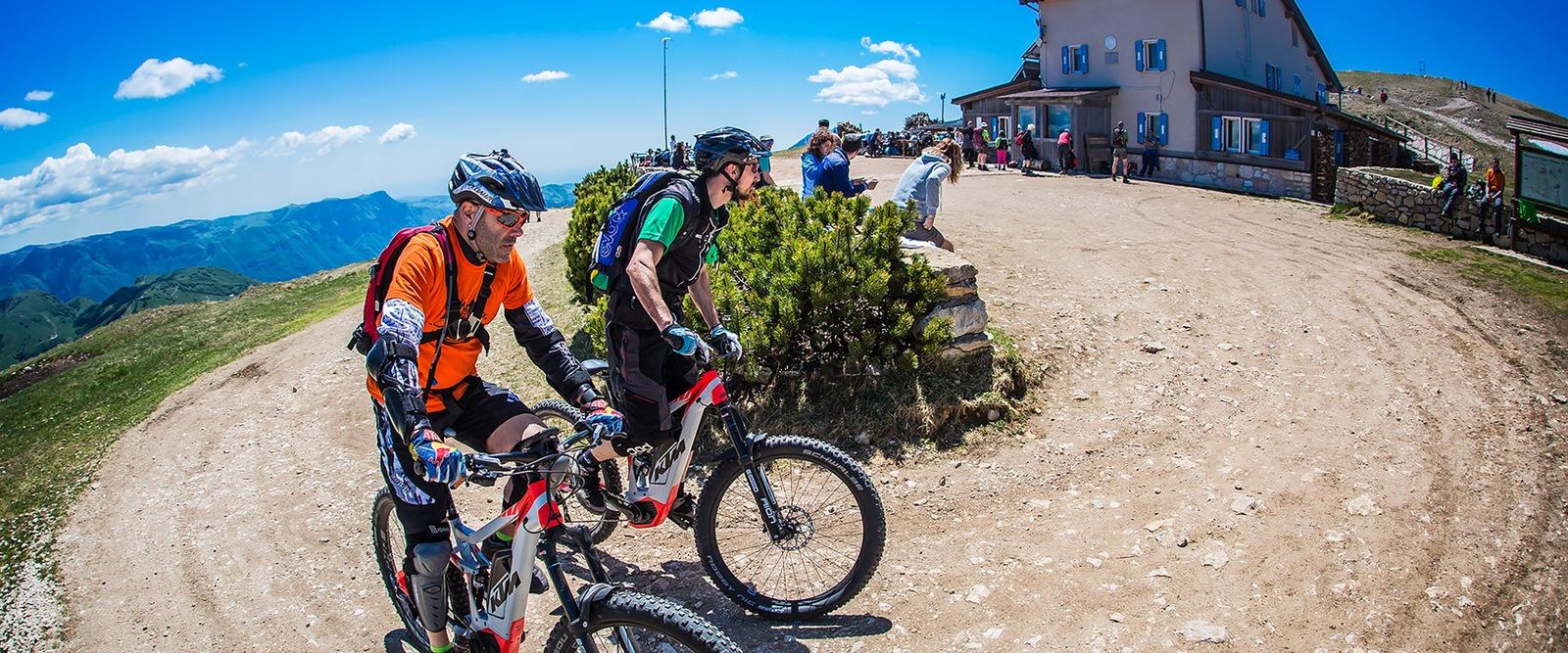 E-bike - Rifugio Damiano Chiesa - monte Altissimo - Vallagarina - Trentino